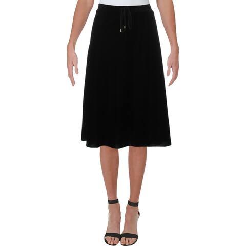 Lauren Ralph Lauren Womens Kristayn A-Line Skirt Velvet Business Wear