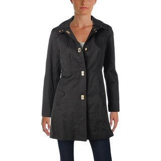 Jones New York Womens Petites Water Resistant Coat Fall Hooded