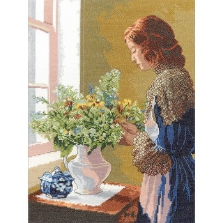 """Grace Counted Cross Stitch Kit-12""""X16"""" 14 Count"""