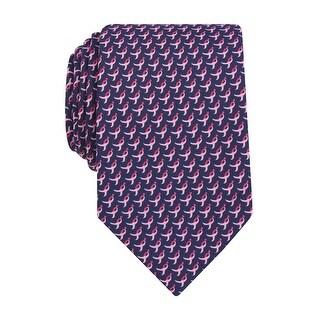 Susan G Komen Ribbon Logo Print Classic Tie Pink and Navy Blue