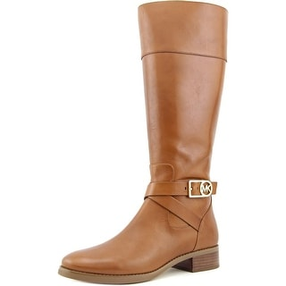 Michael Michael Kors Bryce Tall Boot Women Leather Brown Knee High Boot