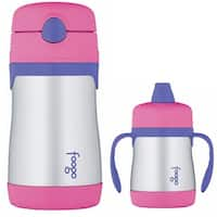 THERMOS FOOGO Vacuum Insulated S/S Food Jar and Water Bottle Bundle - PK/PRPL - Pink