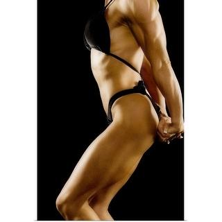 """Female bodybuilder"" Poster Print"