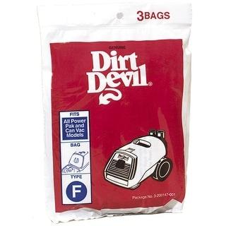 Dirt Devil 200147 Vacuum Bags, F Type