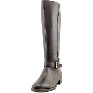 Easy Spirit Nadette Wide Calf Women  Round Toe Leather  Knee High Boot