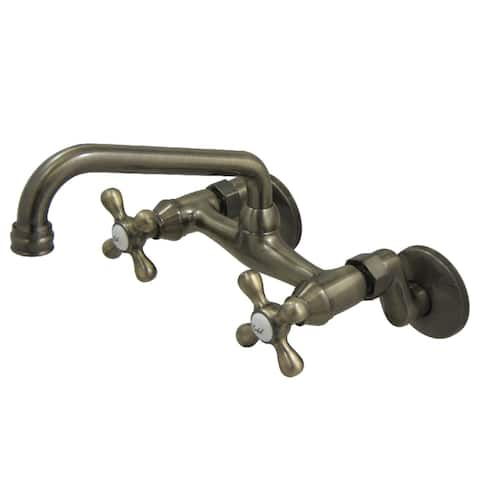 Traditional Two Handle Wall Mount Kitchen Faucet