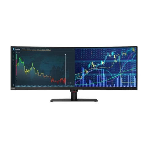"""Lenovo ThinkVision P44w-10 4k 43.4"""" Curved LCD Monitor,Grey(Certified Refurbished)"""