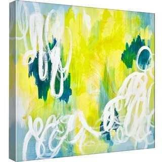 "PTM Images 9-98994  PTM Canvas Collection 12"" x 12"" - ""Jump and Jive Blue 2"" Giclee Abstract Art Print on Canvas"