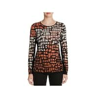 Nic + Zoe Womens Casual Top Printed Knit