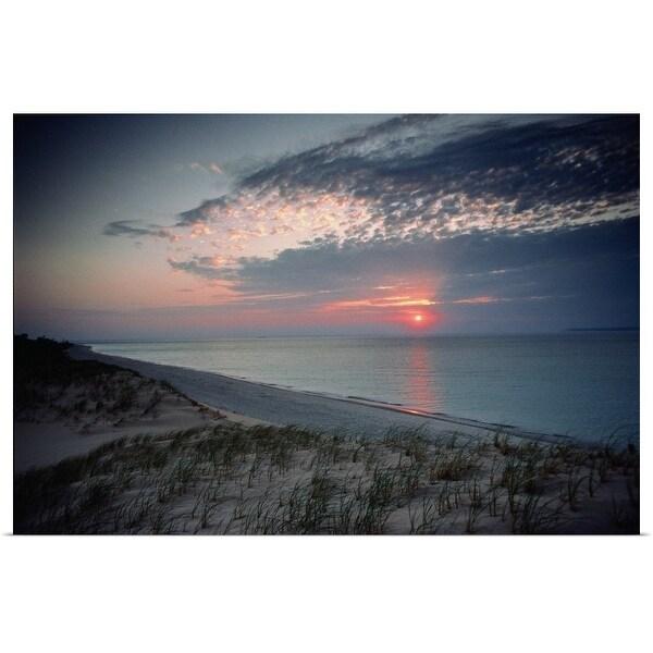 Poster Print Enled Usa Michigan Lake Sleeping Bear Dunes National Lakes