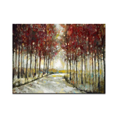 'Autumn Morning Drive' Wrapped Canvas Wall Art by Norman Wyatt Jr.