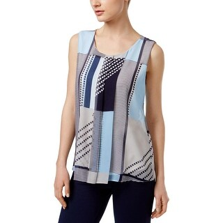 Calvin Klein Womens Casual Top Printed Sleeveless