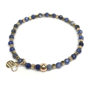 "Blue Sodalite Friendship 7"" Bracelet"