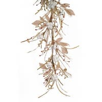 Pack of 2 Brown and White Artificial Pod with Twig Garlands 5'