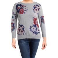 Lauren Ralph Lauren Womens Plus Mellery Pullover Sweater Heathered Watercolor
