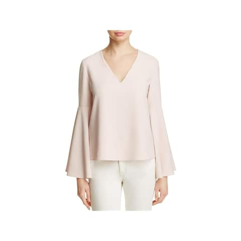 Cooper & Ella Womens Blouse Layered Bell Sleeves