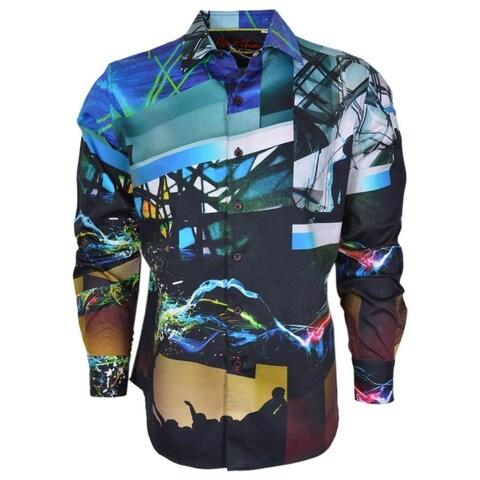 Robert Graham Exclusive Classic Fit PIONEERTOWN Concert DJ Sport Shirt 3XL