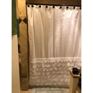 Shop Lush Decor Avery Ruffled Shower Curtain