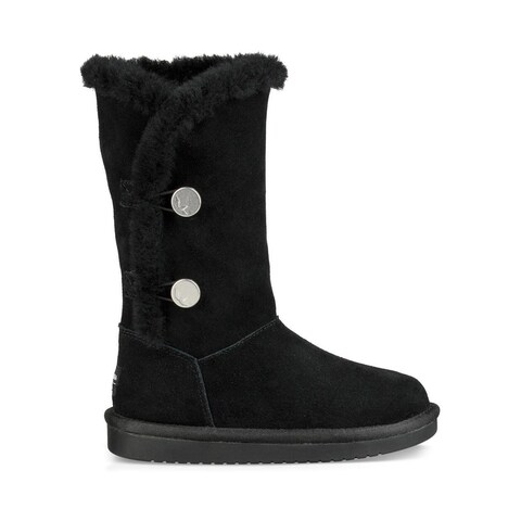 Ugg Womens Kinslei Tall Leather Closed Toe Mid-Calf Cold Weather Bo...