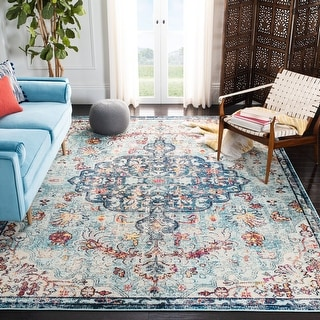 Link to Safavieh Madison Sabire Boho Oriental Medallion Rug Similar Items in Rugs