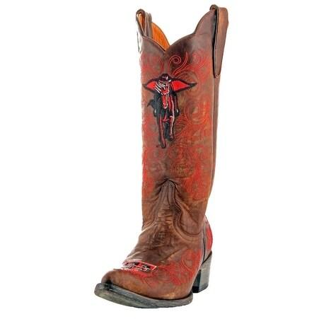 Gameday Boots Womens College Texas Tech Mask Rider Brass