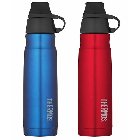 Thermos (2) 17oz. Stainless Steel Carbonated Hydration Bottle - Blue/ Red