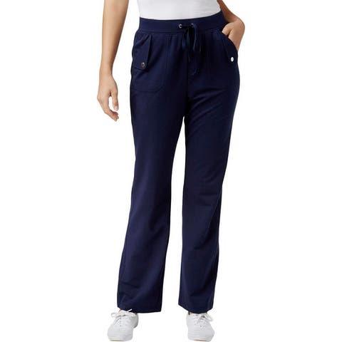 Karen Scott Womens Petites Lounge Pants Drawstring Casual