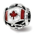 Sterling Silver Reflections Enameled Canada Theme Bead (4.5mm Diameter Hole) - Thumbnail 0