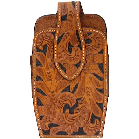 3D Western Cell Phone Case Leather Smartphone Acorn Natural