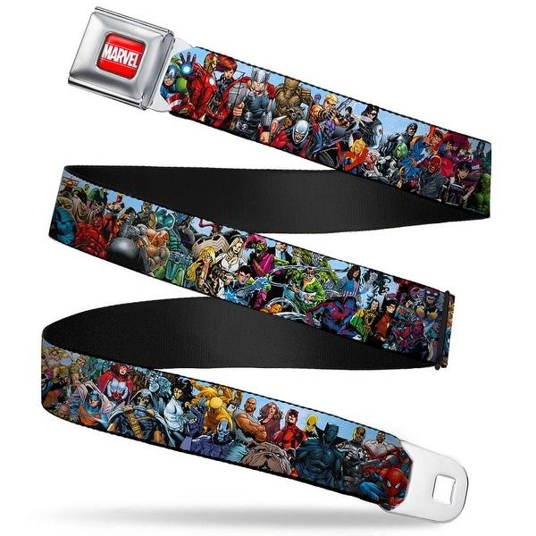 Marvel Universe Marvel Full Color Red White Marvel Universe Heroes & Seatbelt Belt