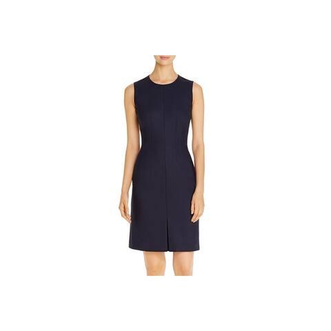 BOSS Hugo Boss Womens Wear to Work Dress Wool Blend Sleeveless - Navy - 10