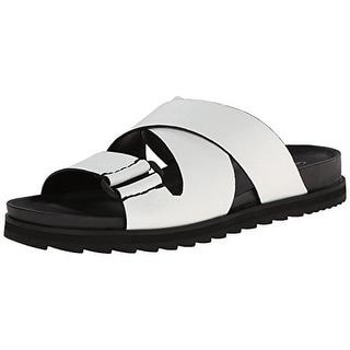 Calvin Klein Womens Valeri Cut-Out Slide Sandals