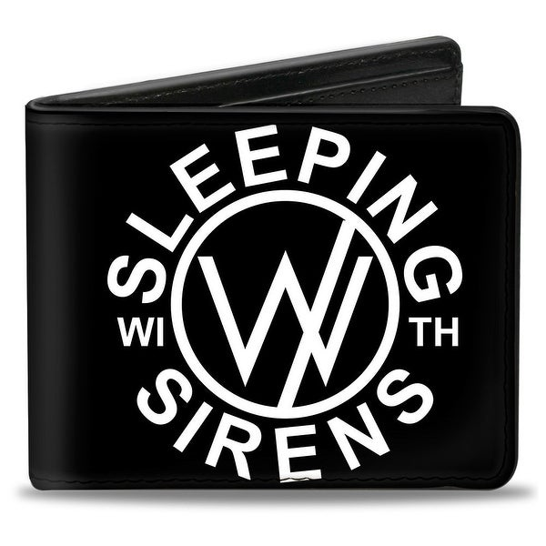 Sleeping With Sirens Circle Logo Black White Bi Fold Wallet - One Size Fits most