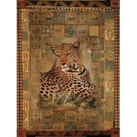 ''Leopard'' by Rob Hefferan Animals Art Print (31.5 x 23.5 in.)