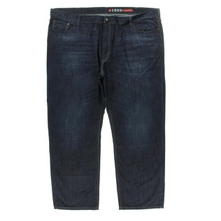 Izod Mens Denim Relaxed Fit Straight Leg Jeans - 48/32