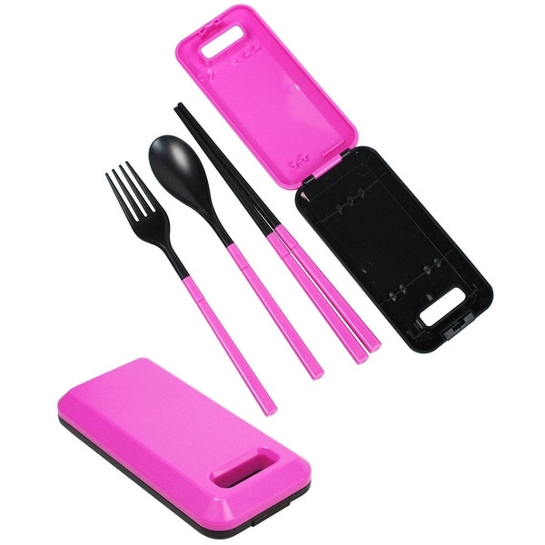 JAVOedge Foldable Compact Travel Utensil Set with Spoon, Fork, Chopstick