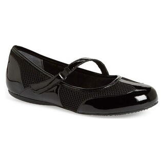Softwalk NEW Black Nadia Shoes 7N Ballet Flats Patent Leather