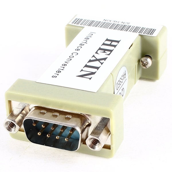 DB9 RS232 Female to Male F/M Interface 3 Wire Terminals Data Adapter Converter