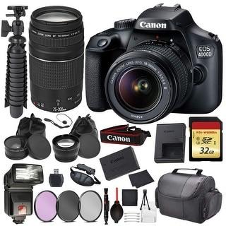 Link to Canon EOS Rebel 4000D Digital SLR Camera +EF-S 18-55mm + EF 75-300mm Similar Items in Digital Cameras
