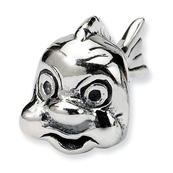 Sterling Silver Reflections Fish Bead (4mm Diameter Hole)