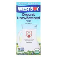 Westsoy Organic Plain - Unsweetened - Case of 12 - 32 Fl oz.