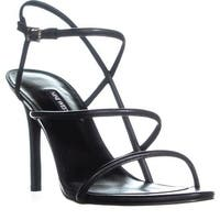 Nine West Mericia Strappy Evening Sandals, Black - 11 us