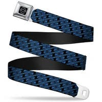 Chevy Diagonal Retro Chevy Bowtie Monogram Black Blues Webbing Seatbelt Seatbelt Belt