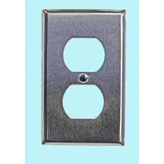 Switchplate Brushed Stainless Steel Single Outlet