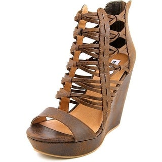 Not Rated CECIL Women  Open Toe Synthetic Brown Wedge Sandal