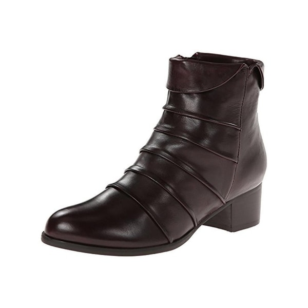 Everybody Womens Nabba Ankle Boots Leather Stacked Heel