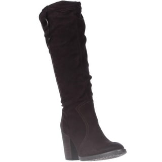 Steve Madden Gambbler Knee-High Boots - Brown Suede