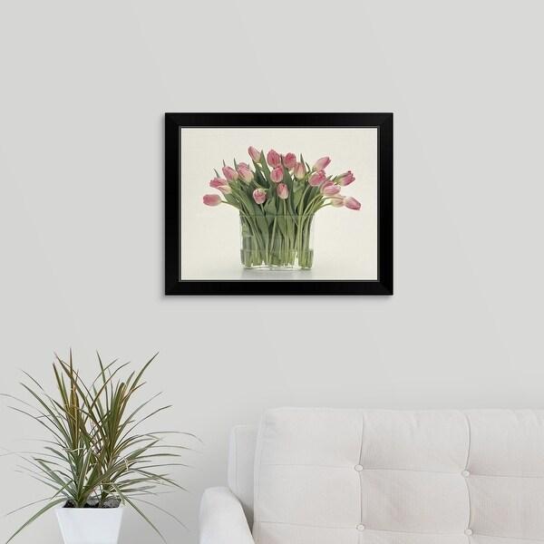 """""""Tulips"""" Black Framed Print"""
