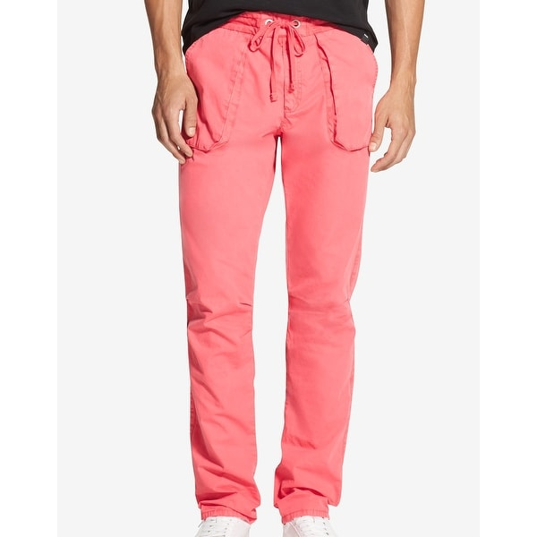 011ab7a61e Shop DKNY Pink Sunset Coral Mens Size XL Classic Fit Drastring Pants - Free  Shipping On Orders Over $45 - Overstock - 28158172