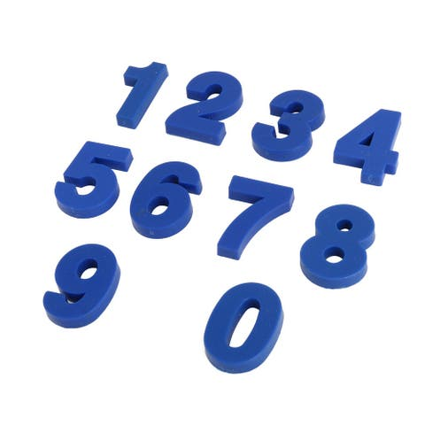 Kitchen Dormitory Plastic Number Shaped Fridge Sticker Magnet Blue 10 in 1